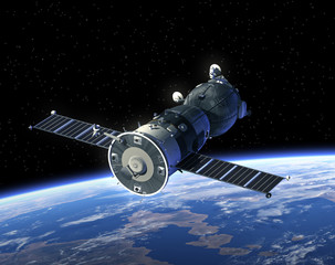 "Spacecraft ""Soyuz"" In Space"