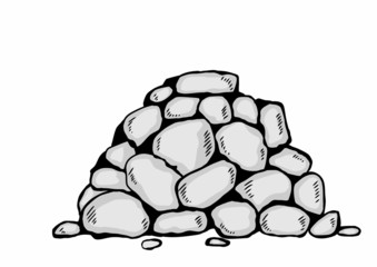 cartoon pile stones