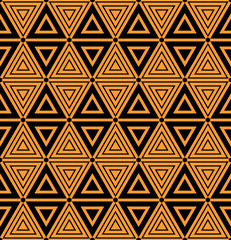 Seamless geometric triangles and diamonds pattern.
