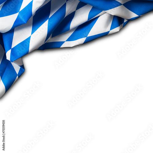 canvas print picture bayrisches Tischtuch auf weißem Hintergrund