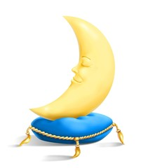 luna sul cuscino