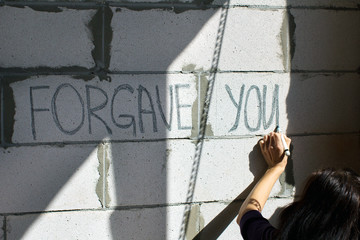 """""""forgave you"""" message"""