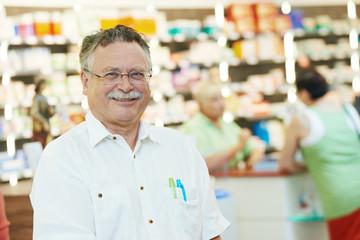 pharmaceutical worker in drugstore