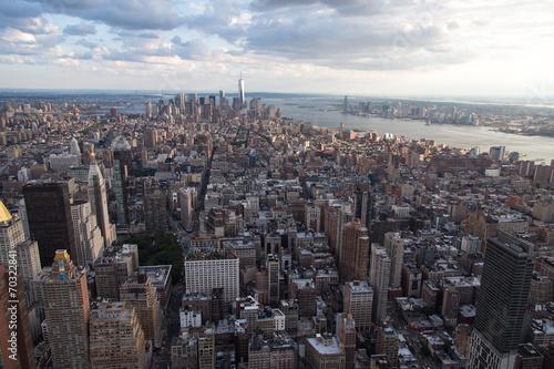 canvas print picture New York von oben
