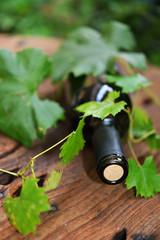 bottiglia vino coricata