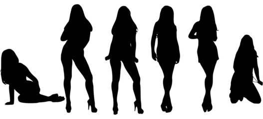 women silhouette vector pack