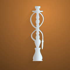 Flat vector icon for hookah