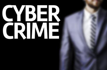 Cyber Crime written on a board