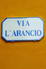 Targa Indicazione Via delle sette volte, Strada, Pisa