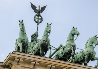 Quadriga landmark over Brandenburger Tor, Berlin
