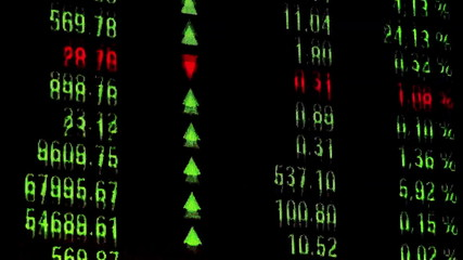 Current figures on the stock exchange