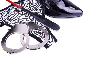 Handcuffs and panties