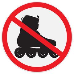 No, roller, skating, sign