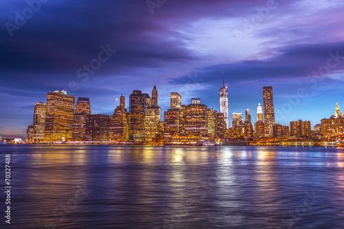 Panorama of Manhattan at the sunset © dade72