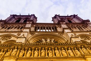 Notre Dame seen from below