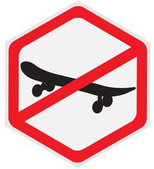 not, ride, skateboard, hexagon, sign