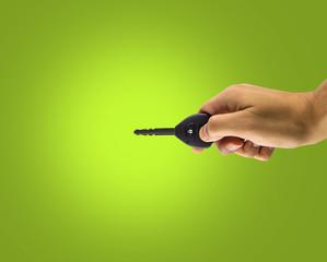 hand holding his car key