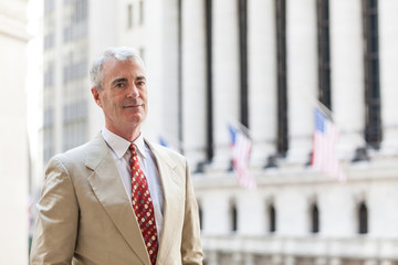 Senior Businessman in New York Financial District