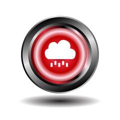 Cloud and rain icon button