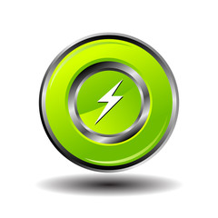 Electricity bolt icon charge button
