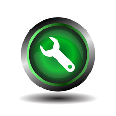 Wrench sign vector