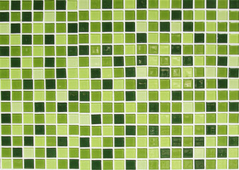 Close up of green tiled wall for background