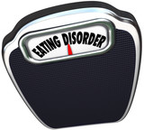 Eating Disorder Scale Words Anorexia Bulimia Health Issue poster