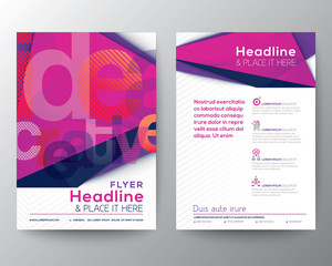 Abstract Triangle Brochure Flyer design template layout