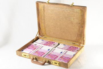Suitcase Full of Banknotes
