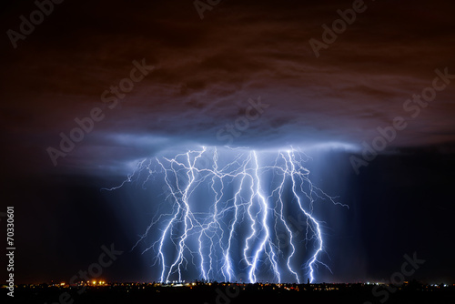 Tuinposter Onweer Tucson Lightning Composite