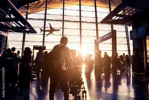 Leinwanddruck Bild passenger In the Malaysia airport