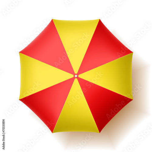 Beach umbrella, top view - 70330814
