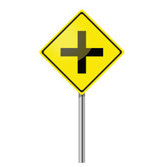 Intersection ahead road sign