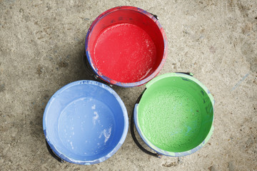 Three old containing color silkscreen.