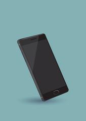 Black Smart Phone Vector Illustration