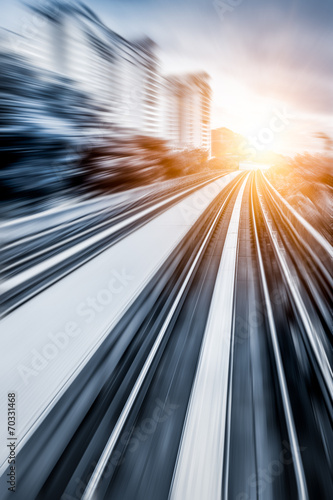 City Metro Rail,motion blur - 70331468