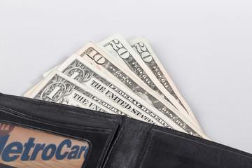 Geldscheine im Portemonnaie
