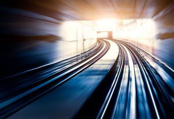 City Metro Rail,motion blur