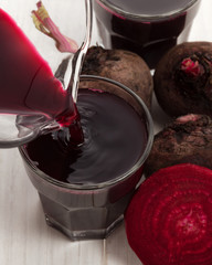 Beet juice with beetroot