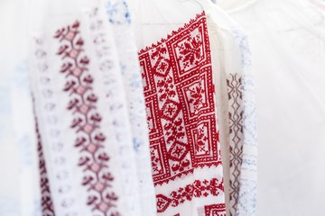Detail of romanian traditional costume