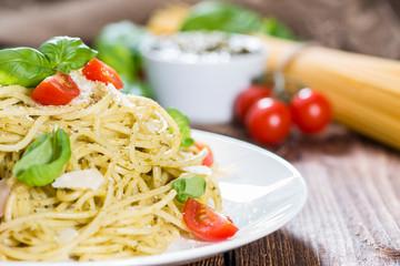 Italian Food (Spaghetti with Pesto)