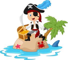 Pirate in the treasure island