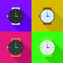 Outline icons of watches
