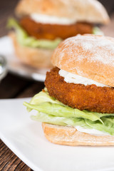 Fresh made Fishburger
