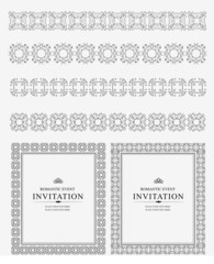 Collection of Ornamental Rule Lines and frames in Different Desi