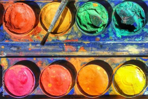 canvas print picture Wasserfarben...