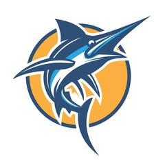 vector blue marlin