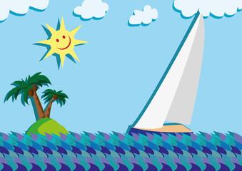 sail sun and island