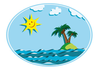 sun and island