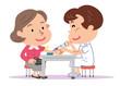 採血 中年 女性 看護師